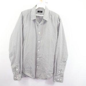 Theory Sylvain Setauket Stretch Dress Shirt Large